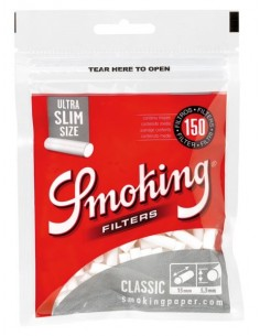 Filtry Smoking Ultra Slim Silver 150's 5,3mm /34