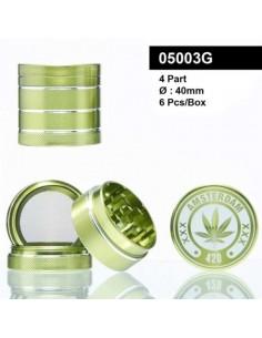 Młynek do tytoniu /05003G/ metal *4 f40mm Green