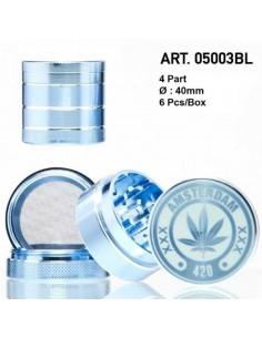 Młynek do tytoniu /05003BL/ metal *4 f40mm Blue