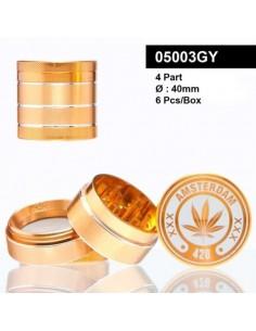 Młynek do tytoniu /05003GY/ metal *4 f40mm Orange
